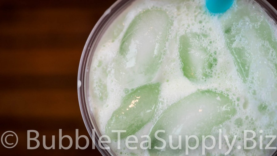Honeydew Latte Bubble Tea - 1