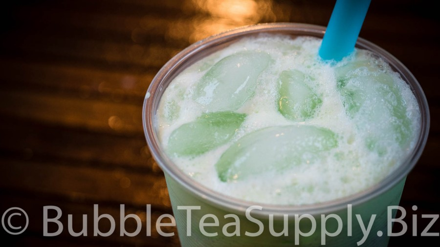 Honeydew Latte Bubble Tea - 2