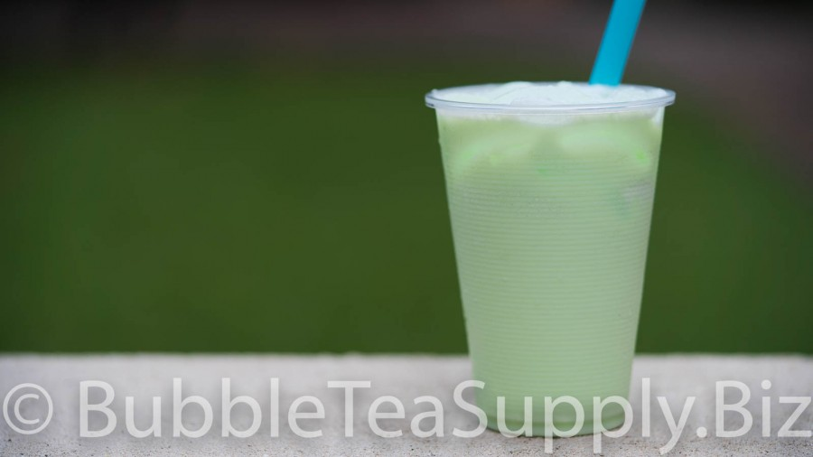 Honeydew Latte Bubble Tea - 3