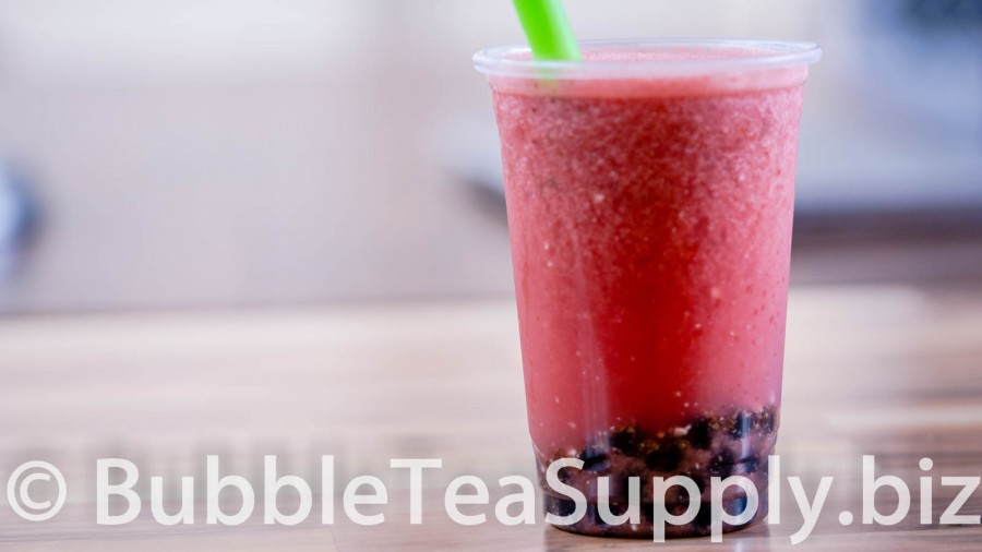 Fresh Watermelon Juice with Boba Tapioca Pearls - 1