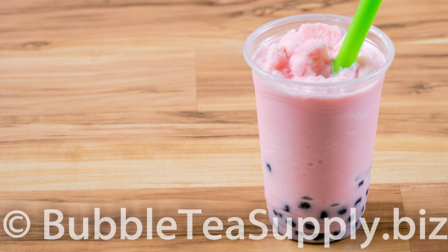 Starwberry Bubble Tea with Boba Tapioca Pearls - 1