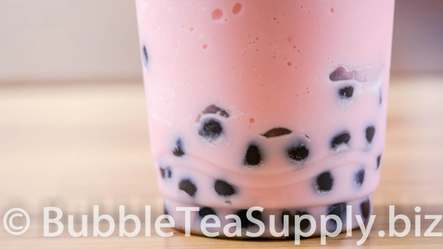 Starwberry Bubble Tea with Boba Tapioca Pearls - 3
