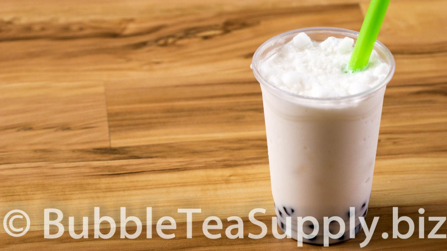 Coconut Bubble Tea with Boba Tapioca Pearls - 01