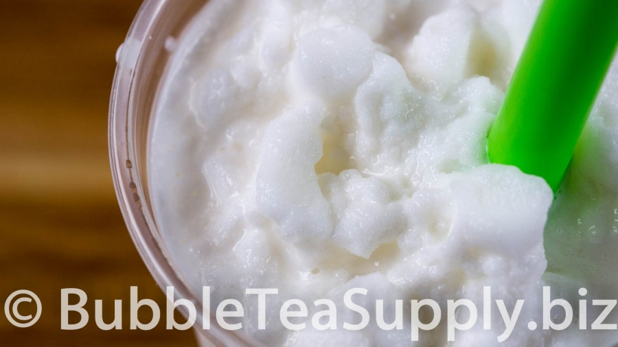 Coconut Bubble Tea with Boba Tapioca Pearls - 02