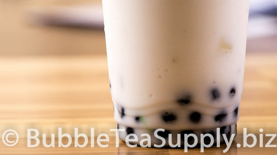 Coconut Bubble Tea with Boba Tapioca Pearls - 03