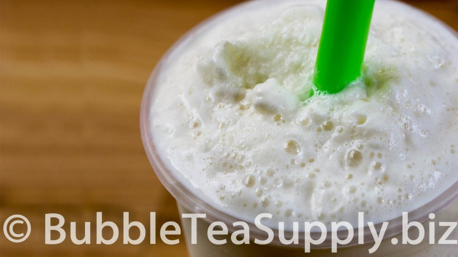 Pina Colada Bubble Tea with Boba Tapioca Pearls - 02