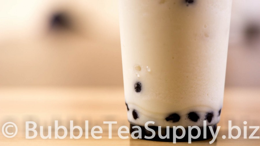 Pina Colada Bubble Tea with Boba Tapioca Pearls - 03