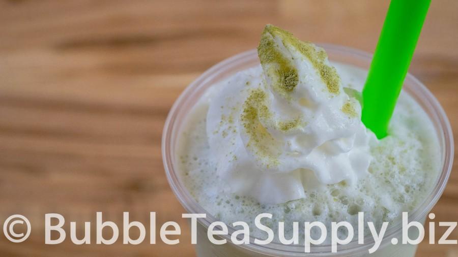 Green Tea Latte Bubble Tea with Boba Tapioca Pearls - 02