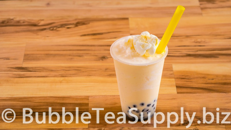 Orange Creamsicle with Boba Tapioca Pearls - 01