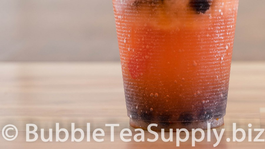 Strawberry Bubble Tea with Li Hing Powder and Boba Tapioca Pearls - 03